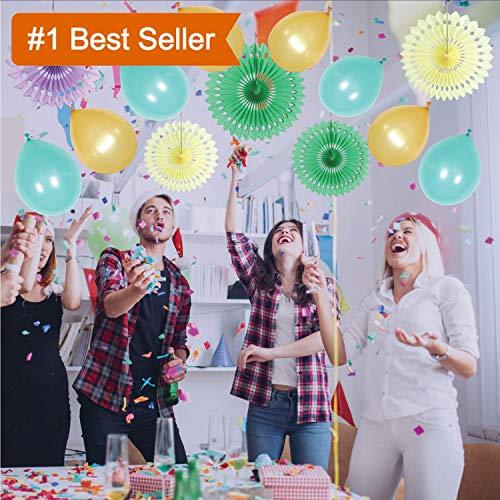 GAXCOO 67 Pieces Birthday Party Decoration Kit, Mint Party Decorations, Wedding Party Decorations Baby Shower Cream Peach Gold Garland Tassels Tissue