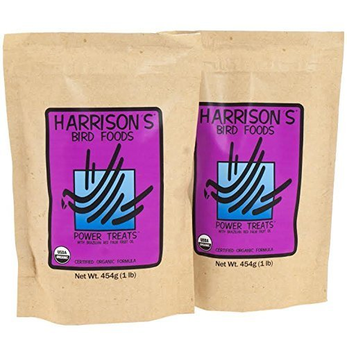 Harrison's Bird Power Treats for Parrots 454g (1lb) Pack of 2 Bags by Harrison's Bird Foods