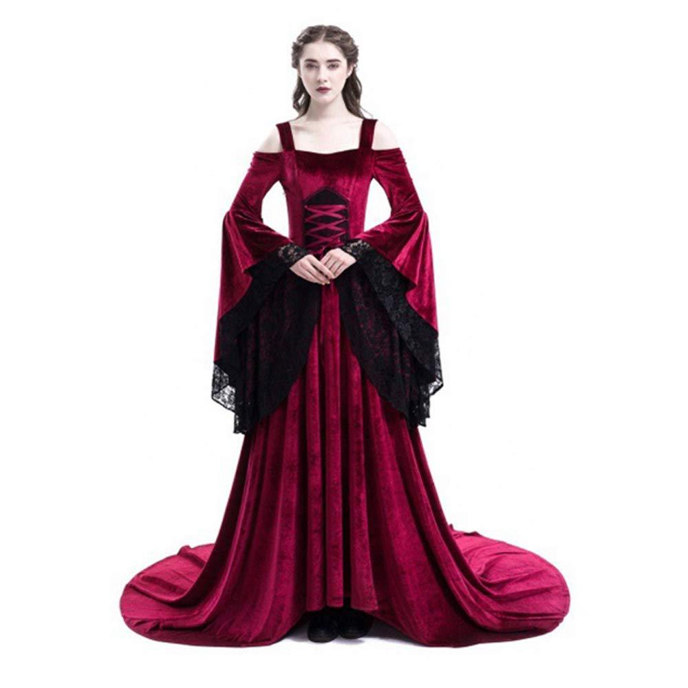 女性のハロウィーンのドレス 仮装 コスプレ コスプレ衣装 レトロステージドレス B07GB1SXW7 XX-Large レッド レッド XX-Large
