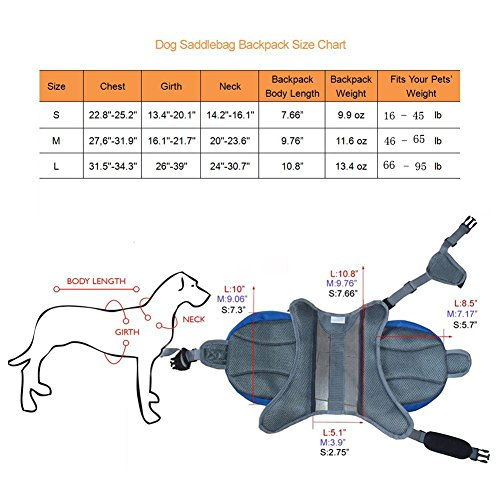 Plaka Portable Dog Saddle Backpack for Outdoor Hiking Camping Training Pet Carrier,Black,L