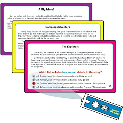 Super Duper Publications Reading for Details in Stories Fun Deck Flash Cards with Secret Decoder Educational Learning Resource for Children: Toys & Games