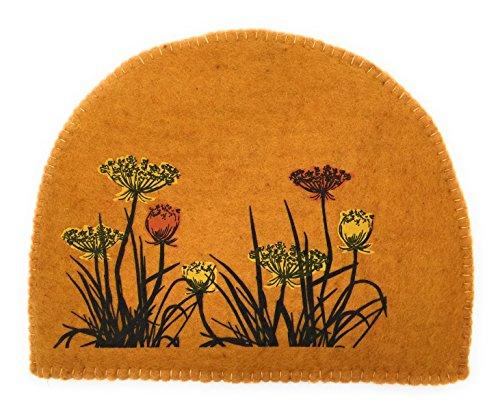 Fibres of Life Hand-Crafted Tea Cozy (Tumeric Flower)