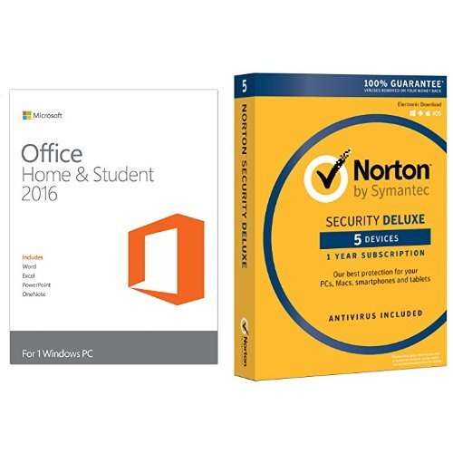 Microsoft Office Home and Student 2016 PC Key Card w/ Nor...