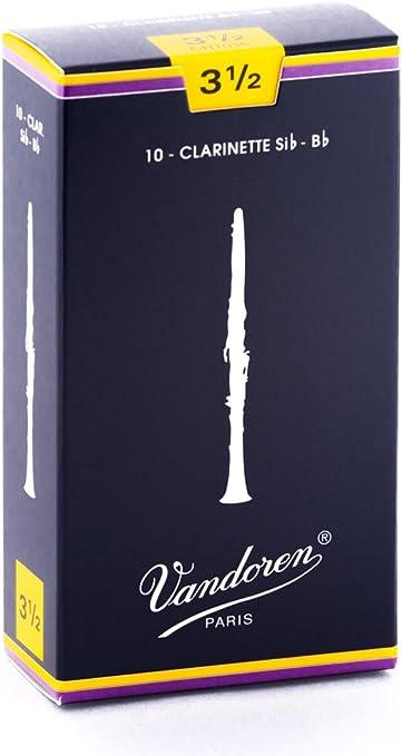 Pack of 3 Vandoren Traditional Clarinet Reeds