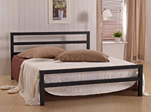 city block metal bed frame double size bed frame - Double Size Bed Frame
