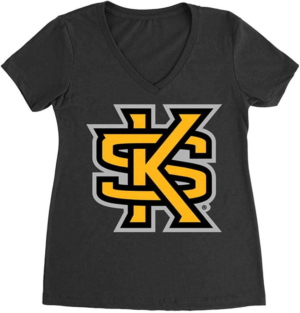 Official NCAA Kennesaw State University Owls - PPKEN01 Premium Womens Ideal V Neck