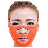 Facial Exercises Cheeks Lift - KOLIGHT Fashion Facial Exercise Anti Wrinkle Half Face Slimming Cheek Mask Lift V Face Line Slim up Belt Strap (Orange)