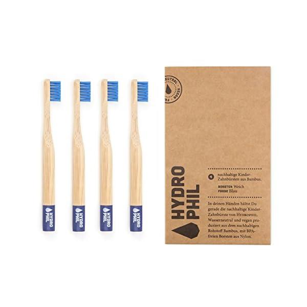 Hydrophil Nachhaltige Kinder Zahnburste Aus Bambus Blau Extraweich