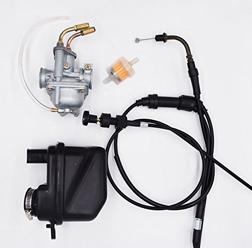 arb With Air Filter Cleaner Box Assembly Throttle Gas Cable And Choke Cable For Yamaha PW50 PW 50 Yzinger 1981-2009 Motorcycle Carb ()