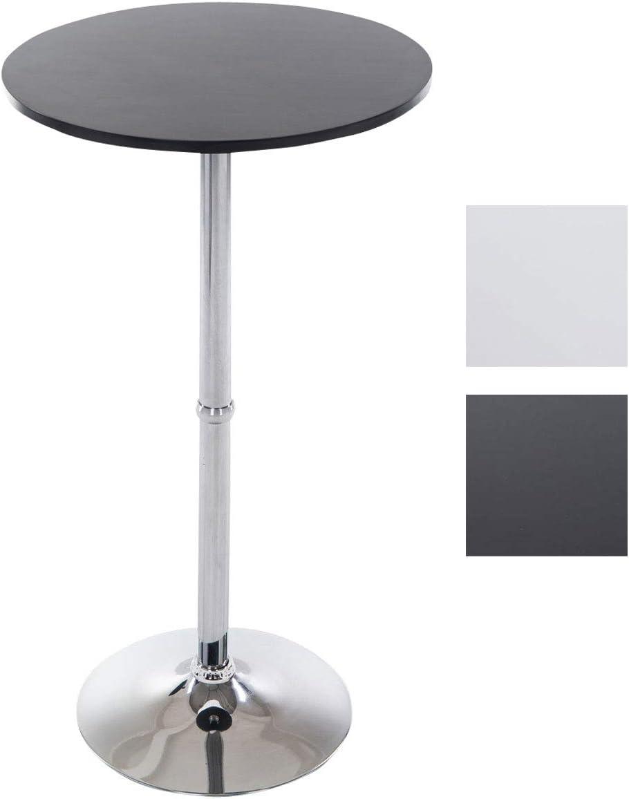 CLP Metall-Stehtisch Mit Runder Holztischplatte  Bartisch  Durchmesser: Ø  33 cm  Höhe: 33 cm  In Vielen Farben, Farbe:schwarz