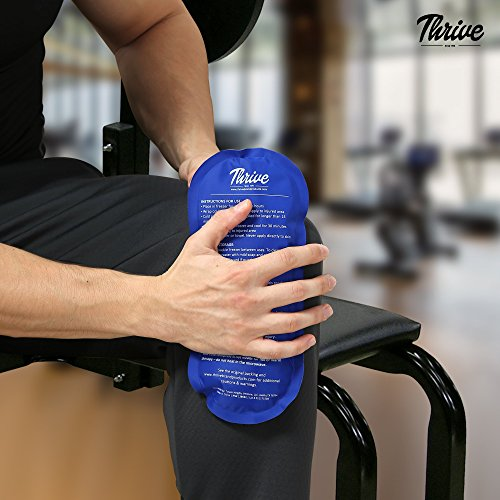 Gel Ice Cold Compress – (2 Pack) – Reusable comfortable soft touch vinyl provides instant pain relief, rehabilitation and therapy from injuries like shoulder, upper/lower back, knee, neck, ankle by Thrive (Image #6)