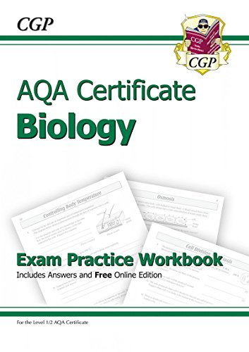 AQA Certificate Biology Exam Practice Workbook (with Answers & Online Edition) (A*-G Course)
