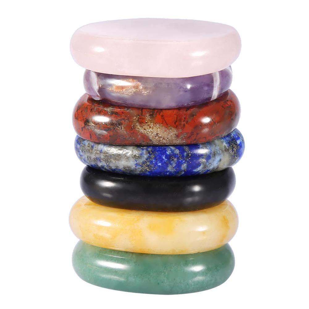 7 st/ücke kristall heilstein unregelm/ä/ßige form nat/ürliche d/ünne glatte sieben chakra energie slice