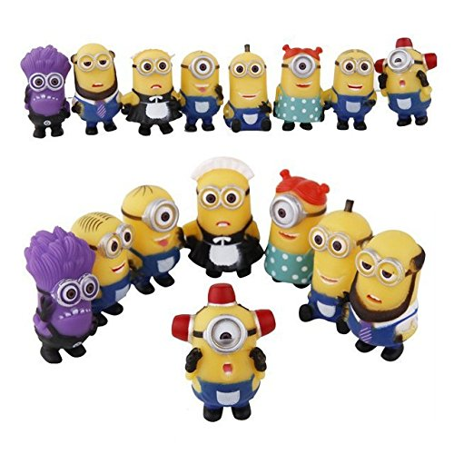Bossel 8pcs SET Despicable Me 2 Minions Character Movie Figures Doll Toy Boy Girl Toy Gift
