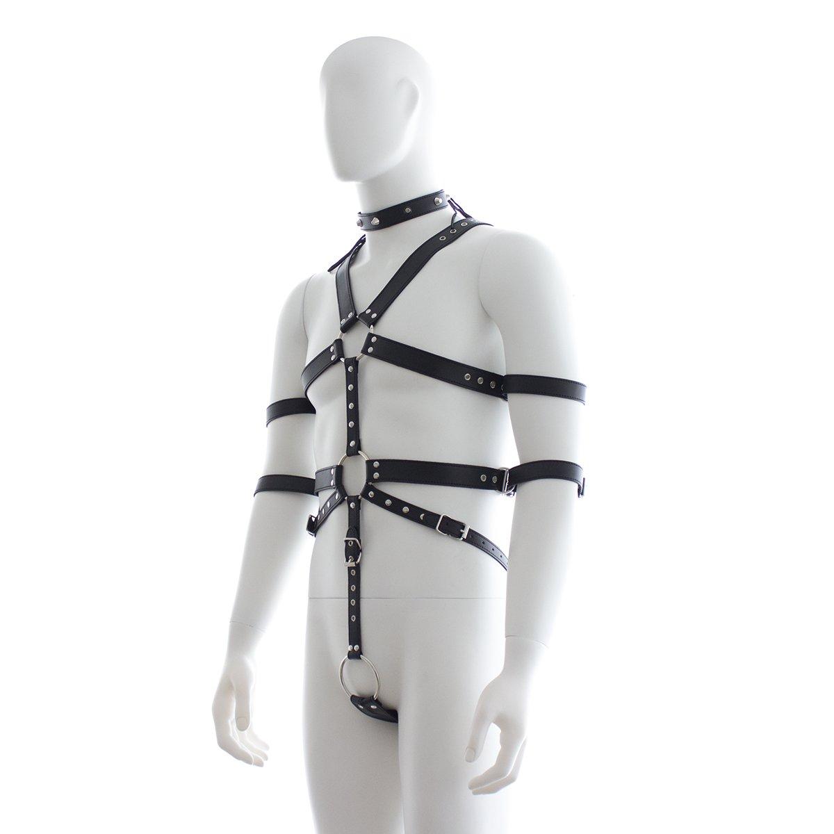 Bondage Clothing, Cinturón De Esclavitud De Cuero Negro Para Hombres, Bondage Juguete De BDSM Bondage Hombres, De Pareja adb8d1