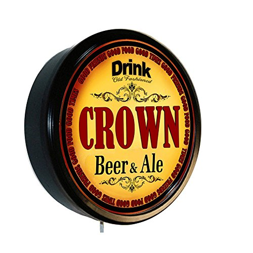CROWN Beer and Ale Cerveza Lighted Wall Sign