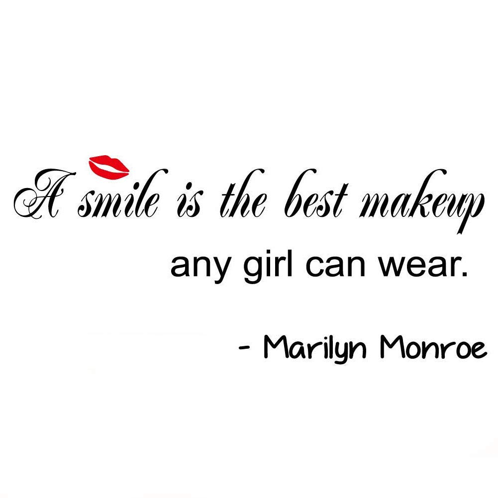 A Smile is The Best Makeup Any Girl Can Wear Wall Stickers Home Decal Removable Art DIY Sticker