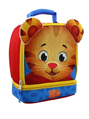 Daniel Tiger Soft Dual Compartment Lunch Box (Red/Blue)]()