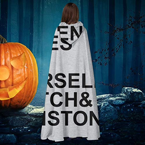 APOJDSN Pulp Fiction Character List Unisex Christmas Halloween Witch Knight Hooded Robe Vampires Cape Cloak Cosplay Costume Black