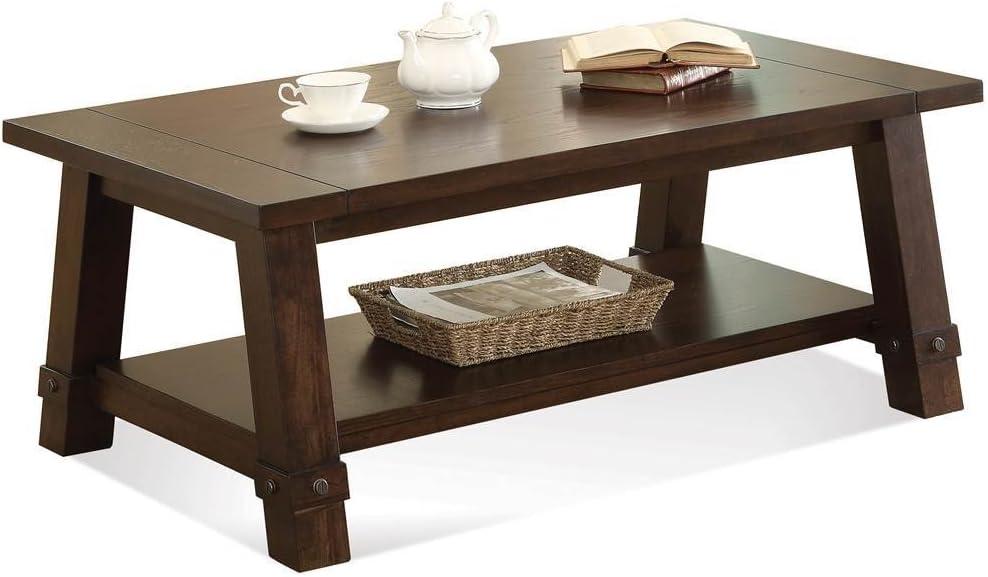 Riverside Furniture Angle-Leg Cocktail Table Brown