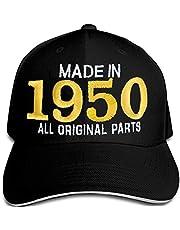 Bombo Made in 1950 - Sombrero de fiesta de cumpleaños para 70 años, color negro