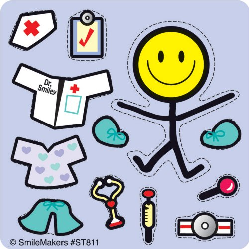Make-Your-Own Medical Smiley Stickers - 100 Per Pack]()