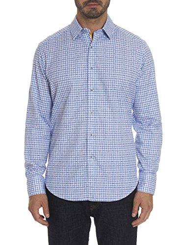 Robert Graham Torrey Checkered Printed Woven Shirt Classic Fit Blue XLarge