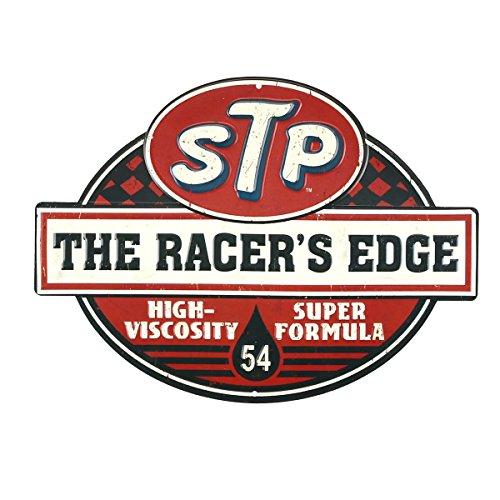 Open Road Brands STP Racer's Edge Embossed Metal Sign
