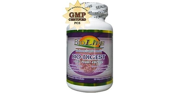 Amazon.com: Bio Digest 60 Caps By Biolife 600mg 100% Plant Enzyme ...