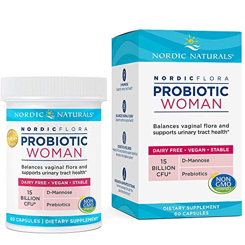- Nordic Naturals Flora Probiotic Woman - Supports Urinary Tract Health, with Additional Support for Women's Health, 60 Vegan Soft Gels
