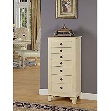 Amazoncom Nathan Direct Cayman 7 Drawer Lockable Jewelry Armoire