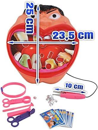ISO TRADE Juego Dentista · 25x23,5 cm · 300 g · Edad: 3+ · excelente para el Desarrollo motórico, la Habilidad · enseña la Paciencia y la Responsabilidad · #1547: Amazon.es: Juguetes y juegos