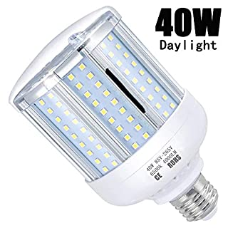 LED Corn Light Bulb 40W (280W Equivalent 4000 Lumen 6500k) Cool Daylight LED Lights E26/E27 Medium Base Aluminum Alloy High Heat Dissipation Light Bulb Suitable for Workplaces or Large Areas …