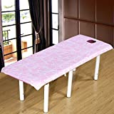 Massage table sheet,waterproof sheets,spa linens,set of 3, cosmetic sheets/beauty salon massage body-specific bed linen-A 190x120cm(75x47inch)