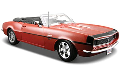 Amazon.com: 1968 Chevy Camaro SS 396 Convertible, Bronze - Maisto ...