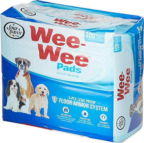 - Four Paws Wee Wee Pads, 22x23 Inch, 100 Count, 4 Pack