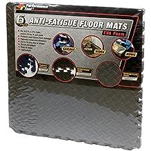 "Performance Tool W88989 24"" X 24"" Protective Diamond Shape Anti-Fatigue Interlocking Floor Mat (24 Square Feet)"