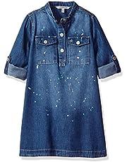 Calvin Klein Big Girls' Chambray Utility Dress