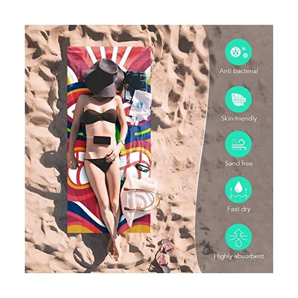AGPTEK Telo Mare Microfibia Telo da Bagno per la Spiaggia Asiugamano Telo Antisabbia Super Assorbente Ideale per Le… 3 spesavip