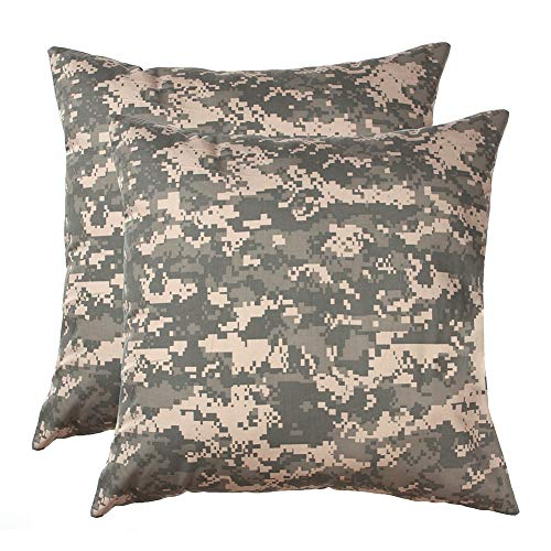 SOMIDE 2PCS Throw Pillow Covers, Military Camouflage Pattern, Decorative Square Pillow Case for Bedroom Livingroom Home Decor Bed Sofa Chair 18