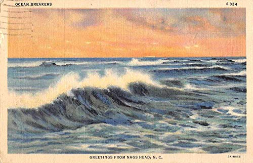 Nags Head North Carolina Greetings Ocean Waves Vintage Postcard JE229098