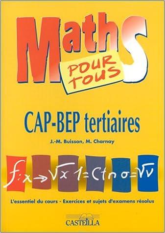Livre Maths pour tous : CAP-BEP tertiaires pdf