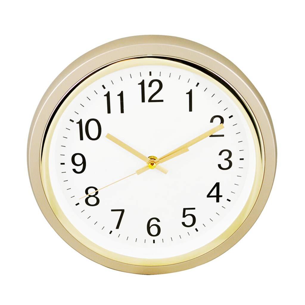 ホーム 置き時計 壁時計ミュートクォーツムーブメントリビングルームの寝室のホームクォーツ時計ファッション人格ラウンド時計 ホームデザイン   B07R5CPCFR