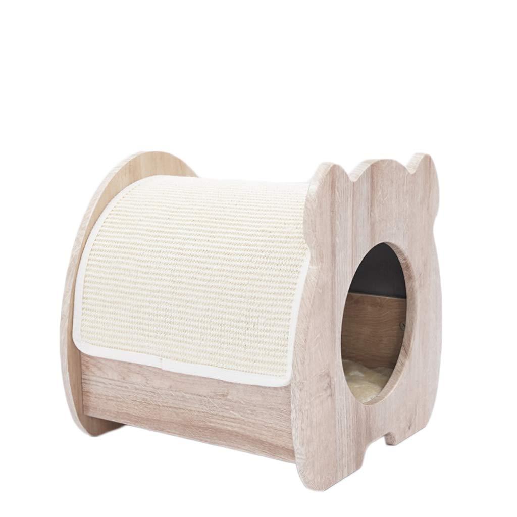 LF-pet supplies Solid Wood Pet Bed Kennel Cat Litter A Closed Four Seasons Universal Pet Supplies