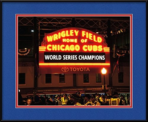 Chicago Cubs Gift - Wrigley Field World Series Champions Picture (8x10 Photo w/ 11x14 Mat & Frame)