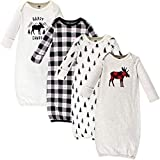 Hudson Baby Unisex Cotton Gowns, Moose, 0-6 Months