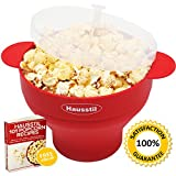 Microwave Air Popcorn Popper - Silicone Popcorn Maker Bowl...