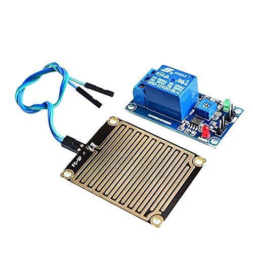 SODIAL(R) 12V Raindrop Controller Module Raindrop Sensor Module With (Rain Detector)