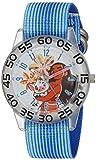 Disney Girl's 'Moana' Quartz Plastic and Nylon Casual Watch, Color:Blue (Model: WDS000044)