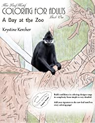 A Day At The Zoo: Coloring for Adults (New Leaf Motif) (Volume 1)